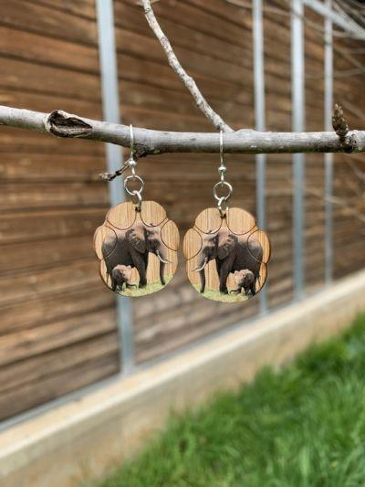 elephant bamboo earrings