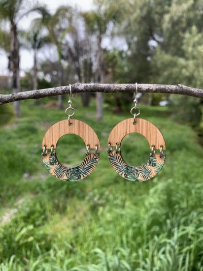jungle bamboo earrings