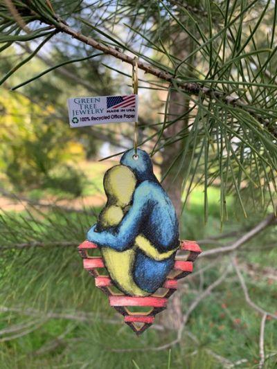 loving embrace wood ornament